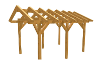Carport in Holz